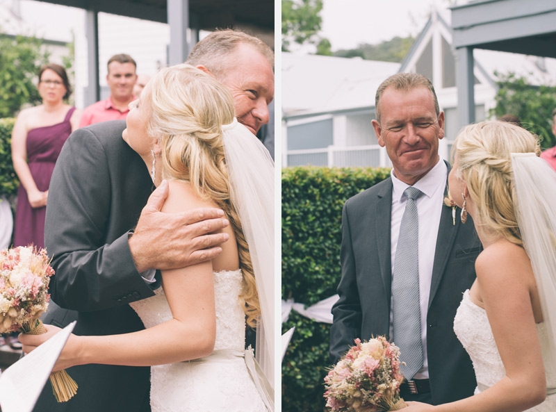 emotional moment between stoic father and the bride