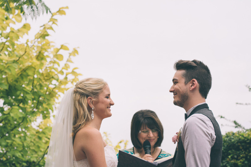 Bride and groom happy for their rustic blue mountains wedding at Loxley on bellbird hill