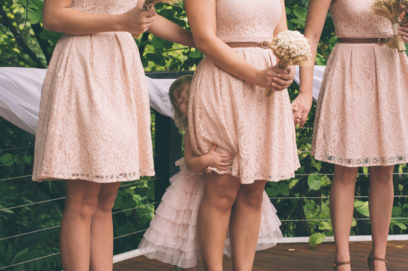 cute vintage dresses for the bridesmaids flower girl being cute
