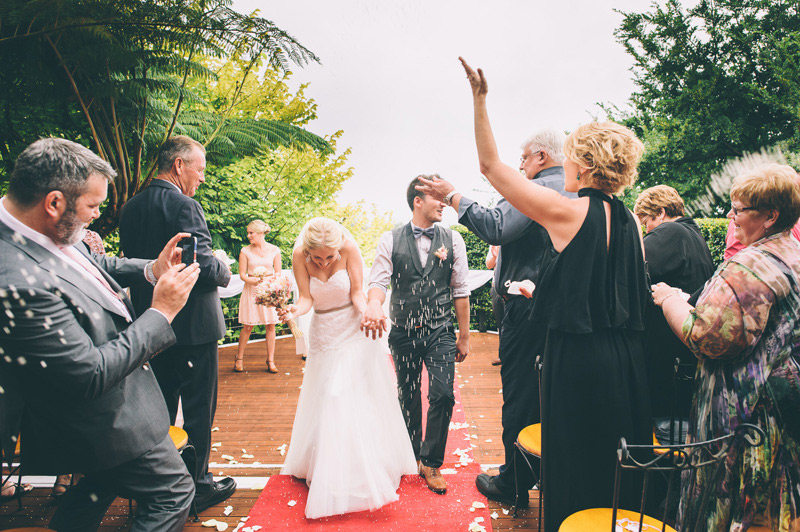 confetti throw for the precessional as they walked back down the aisle to temper traps sweet disposition
