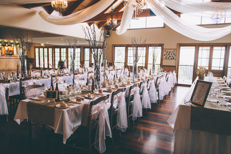 the rustic wooden decor and layout at Loxley on Bellbird hill