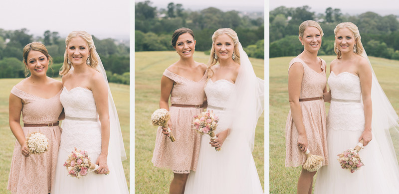 vintage bride shot by blue mountains wedding photographer