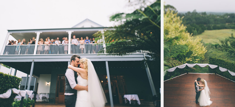 love and stuff photography of the Bride and groom's first dance to jeff buckley in the blue mountains