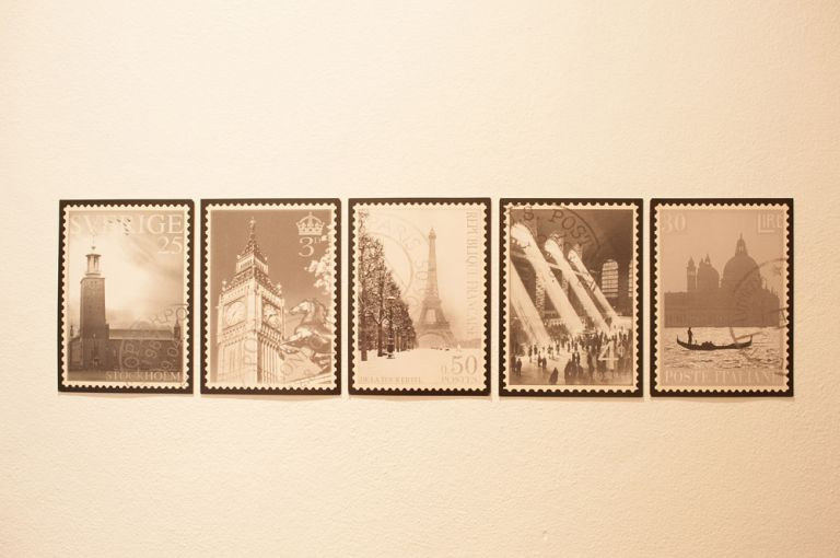 travel postage stamps room decor inspiration