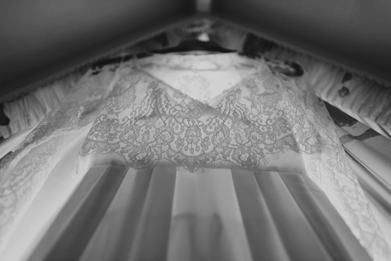 Rue du siene lace dress hanging Auckland wedding photographer