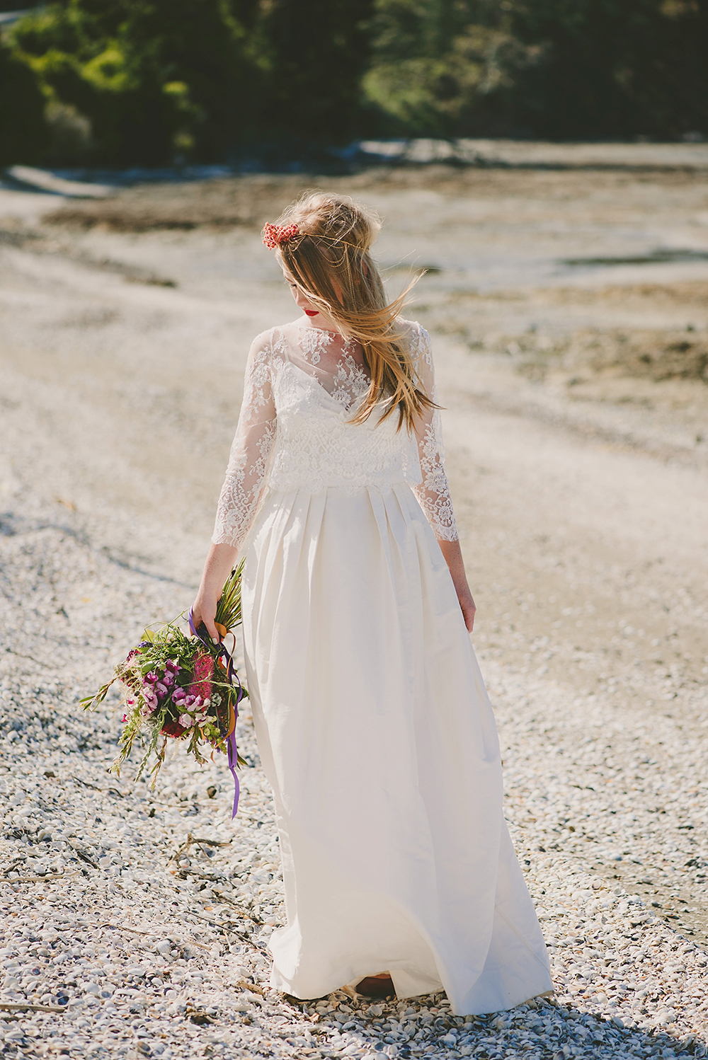 Kawakawa bay Auckland forest boho Wedding photographer romantic bride rue du siene