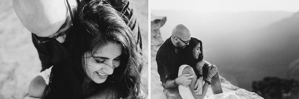 black and white documentary couple photography in the blue mountains