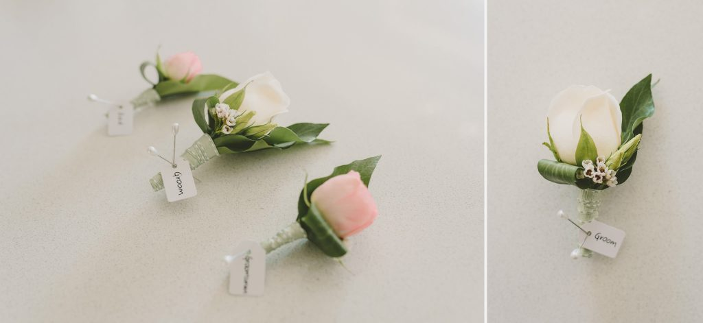 Rose button holes made by Red Earth Flowers Melbourne